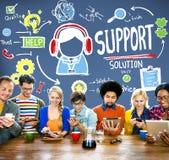 Omsorg Team Concept för hjälp för servicelösningsrådgivning kvalitets- royaltyfri foto