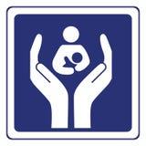 omsorgsbarnmoder Arkivbilder