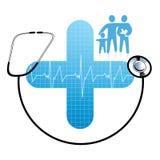 omsorgsfamiljhälsa vektor illustrationer