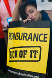 omsorgshälsoprotest Arkivbild