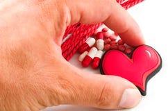 omsorgshjärta tar ditt Fotografering för Bildbyråer