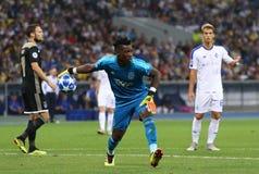 Omspel för liga för UEFA-mästare: FC Dynamo Kyiv V Ajax royaltyfria foton