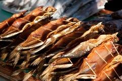 Omul fish at the Listvyanka market stock image