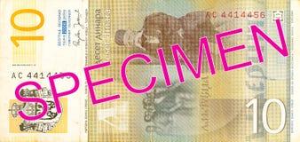omvänd dinaranmärkning för 10 serb fotografering för bildbyråer