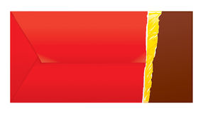 omvänd sida för chocoinbjudningar stock illustrationer