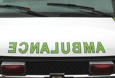 Omvända ambulansformuleringar Arkivfoto
