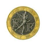 omvänt mynt 1990 för fransk franc 10 arkivbilder