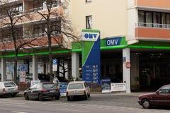 OMV-bensinstation Arkivfoto