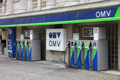 OMV gas station Royalty Free Stock Image