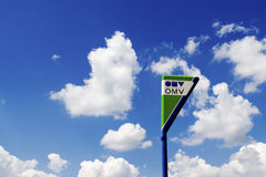 OMV-teken Royalty-vrije Stock Foto's