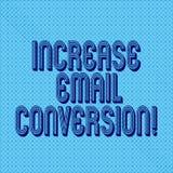 Omvandling för Email för förhöjning för handskrifttexthandstil Begrepp som betyder handling som äger rum på din landa sida sömlös arkivbilder