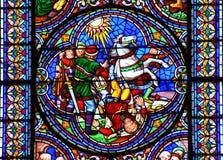Omvandling för målat glassfönster av Saint Paul Arkivbilder