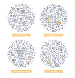 Omvandling Rate Optimization Doodle Illustrations