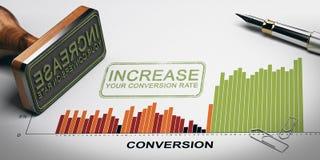 Omvandling Rate Optimization som marknadsför kapacitet Royaltyfri Bild