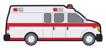 Omvandling Skåpbil Ambulans Fotografering för Bildbyråer