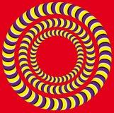 Omwenteling (Optische illusie) Stock Afbeelding
