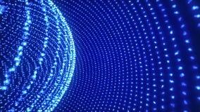 Omwenteling van de hemisferen Geanimeerde achtergrond het blauw van de computergrafiek royalty-vrije illustratie