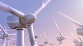 Omwenteling van windturbines vector illustratie