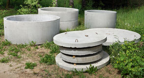 Free On A Glade Of The Green Summer Wood The Thrown-out Concrete Buil Stock Images - 95081054
