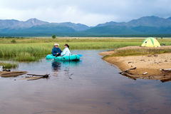 Free On An Inflatable Boat Royalty Free Stock Images - 7248959