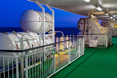On-board Life-saving Equipment Stock Photo