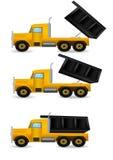 On Set Illustration Yellow Truck Stock Image