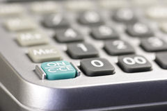 ON Switch Of A Desk-top Calculator 01 Stock Photos