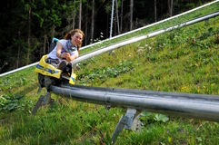 Free On The Bobsled Run Royalty Free Stock Photography - 14577327