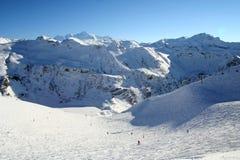 On The Ski-track In Alps Stock Photo