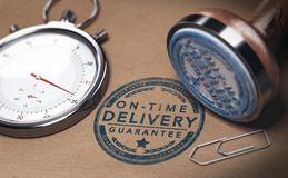 Free On Time Delivery, Courier Service And Punctuality Stock Photography - 106644592