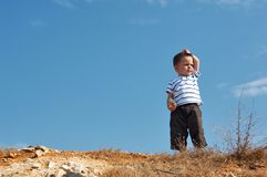 Free On Top Of Hill Stock Photo - 3325590