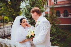 Żona i mąż Dziecka dotyk obrazy stock