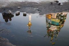 Onafhankelijk vierkant (Maidan) in Kyiv, de Oekraïne Stock Afbeeldingen