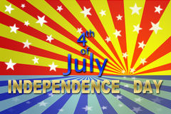 Onafhankelijkheid 4 Juli Stock Afbeeldingen