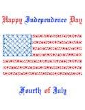 Onafhankelijkheidsdag in Amerika stock illustratie