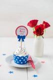 Onafhankelijkheidsdag cupcake Stock Fotografie