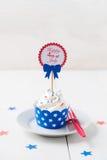 Onafhankelijkheidsdag cupcake Royalty-vrije Stock Afbeeldingen