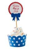 Onafhankelijkheidsdag cupcake Royalty-vrije Stock Foto's