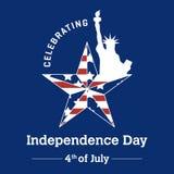 Onafhankelijkheidsdag - 4 juli Stock Foto's