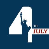 Onafhankelijkheidsdag - 4 juli Stock Foto