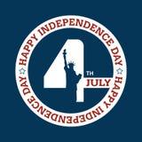 Onafhankelijkheidsdag - 4 juli Stock Afbeelding