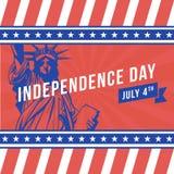 Onafhankelijkheidsdag - 4 juli Stock Afbeeldingen