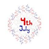 Onafhankelijkheidsdag - 4 Juli-embleem Royalty-vrije Stock Foto's