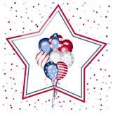 Onafhankelijkheidsdag van de viering van Amerika Stock Fotografie