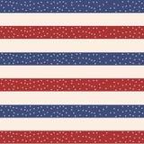 Onafhankelijkheidsdag van het naadloze patroon van Amerika 4 de eindeloze achtergrond van juli De nationale feestdag die van de V Royalty-vrije Stock Foto's