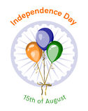 Onafhankelijkheidsdag van het vectorontwerp van India Stock Afbeelding
