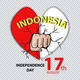 Onafhankelijkheidsdag van Indonesië Stock Afbeelding