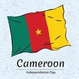 Onafhankelijkheidsdag van Kameroen Vector illustratie Stock Foto's