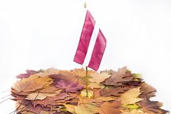Onafhankelijkheidsdag van Letland Het vieren van 100 jaar van onafhankelijkheid van het land royalty-vrije stock foto