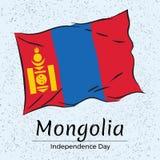 Onafhankelijkheidsdag van Mongolië Vector illustratie Stock Fotografie